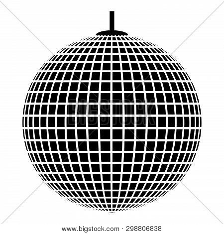 Disco Sphere Suspended On Line Rope Discotheque Ball Retro Night Clubs Symbol Concept Nostalgic Part