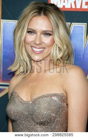 Scarlett Johansson at the World premiere of 'Avengers: Endgame' held at the LA Convention Center in Los Angeles, USA on April 22, 2019.