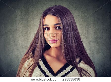 Portrait Of A Beautiful Young Woman Smiling