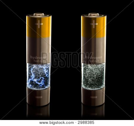 Hydrogen Fuel Cell Aa (Lr6) Batteries With & Without Electrical