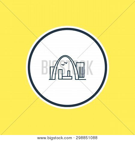 Vector Illustration Of Gateway Arch Icon Line. Beautiful Tourism Element Also Can Be Used As Archway