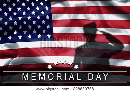 Happy Memorial Day Greeting Card, National American Holiday. Memorial Day Background Remember And Ho