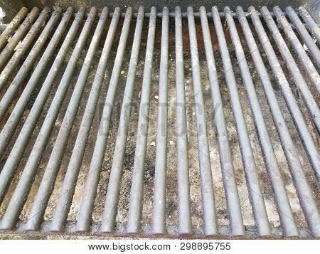 Dirty Metal Grill With Rust And Grease And Grime