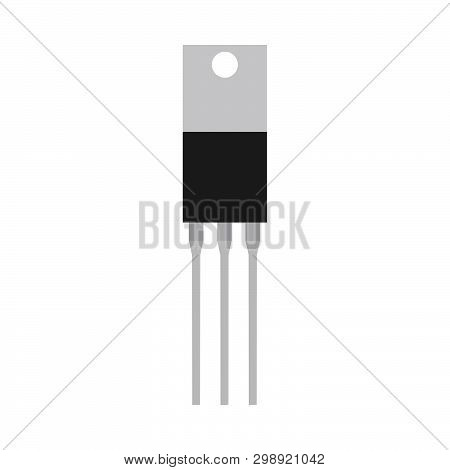 Transistor Equipment Microprocessor Pc Micro Part. Circuit Element Chip Vector Electronic Icon Indus