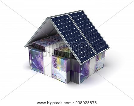 Swiss Franc Energy Saving (isolated On White Background) 3d Rendering