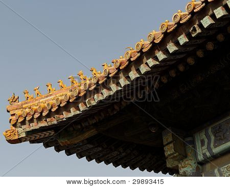 Forbidden city temple roof
