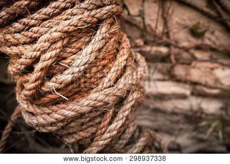 Natural rope beige color in the hank. poster