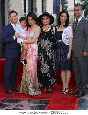 LOS ANGELES - MAY 1:  Lucy Liu, Family, Guest at the Lucy Liu Star Ceremony on the Hollywood Walk of Fame on May 1, 2019 in Los Angeles, CA