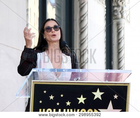 LOS ANGELES - MAY 1:  Demi Moore at the Lucy Liu Star Ceremony on the Hollywood Walk of Fame on May 1, 2019 in Los Angeles, CA