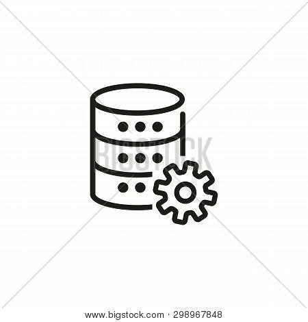 Technical data line icon. Data development, database setup, data server setting. Database concept. Vector illustration can be used for topics like technology, information, internet poster
