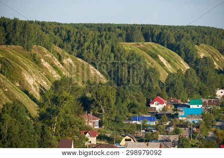 The View From The Alafeyskaya Mountain Where Tobolsk Kremlin Is Situated Along The South Slope Of Te