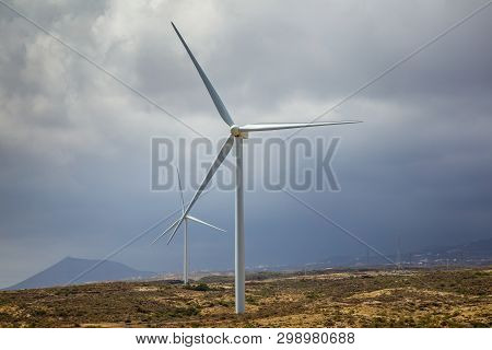 Wind Turbines On The Island As An Ecological Source Of Cheap Energy.