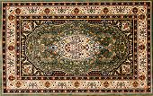 Arabic or Persian rug with floral pattern poster