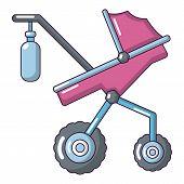 Baby carriage classy icon. Cartoon illustration of baby carriage classy icon for web poster
