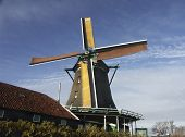 beautiful holland windmill poster