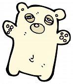 tired bear cartoon poster