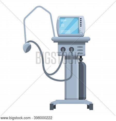 Respiratory Ventilator Medical Machine Icon. Cartoon Of Respiratory Ventilator Medical Machine Vecto