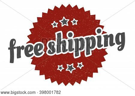 Free Shipping Sign. Free Shipping Round Vintage Retro Label. Free Shipping