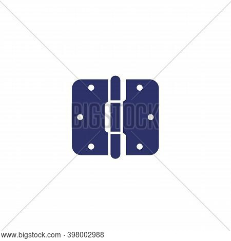 Door Hinge Icon On White, Vector, Eps 10 File, Easy To Edit