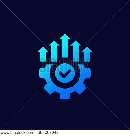 Efficient Production And Efficiency Icon, Vector, Eps 10 File, Easy To Edit