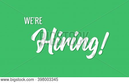 Hiring Banner Vector Background. Hr Hire Now Job Vacancy Recruitment Concept Poster