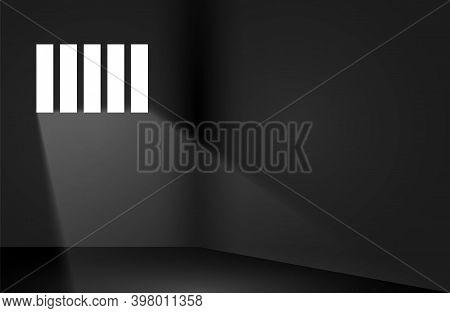 Dungeon Prison Window Background. Jail Cell Empty Window Light Justice Crime Prison