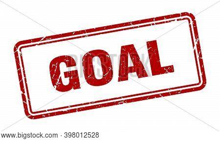Goal Stamp. Goal Square Grunge Sign. Goal