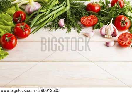 Fresh Vegetables Background Copy Space. Healthy Eating Concept. Vegetarian Food. Healthy Eating. Rip