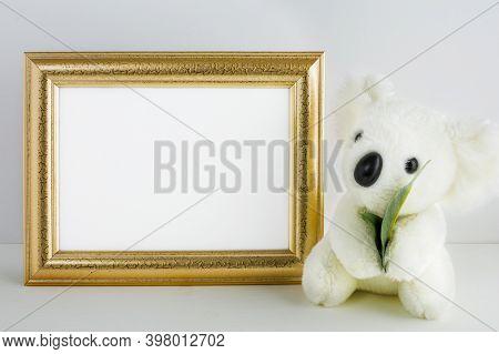 Nursery Frame Mockup With Koala Bear. Frame Mockup. Poster Mockup. Nursery Mockup.