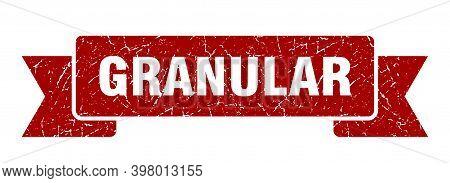 Granular Ribbon. Granular Grunge Band Sign. Granular Banner