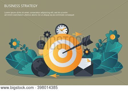 Strategy Planning And Successful Business. Flat Vector Illustration