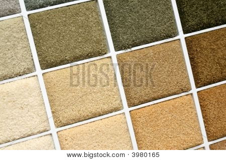 Samples of color of a carpet covering poster
