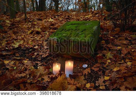 Chomutov, Czech Republic - November 17, 2020: A Small Monument For A Czechoslovak Dissident Pavel Wo