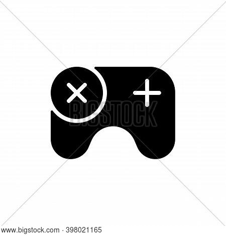 Games App Black Glyph Icon. Gameplay Feature. Pc, Mobile And Console Games. Video Gaming Experience.