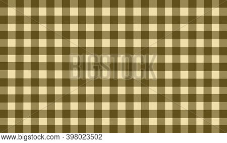 Brown Olive Yellow Vintage Checkered Background. Space For Graphic Design. Checkered Texture. Classi