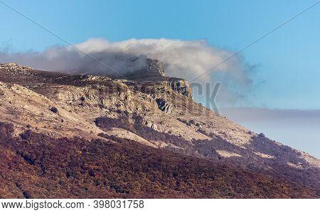 Rocks In Crimea. The Rocks Of The Rocks Of Crimea. The Output Of Limestone Sediment