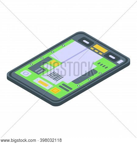 Tablet Repair Motherboard Icon. Isometric Of Tablet Repair Motherboard Vector Icon For Web Design Is