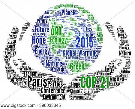 Cop 21 Word Cloud Concept In Paris 2015 Illustration