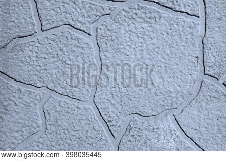 Grey Background. Stone Gray Concrete Wall Background.