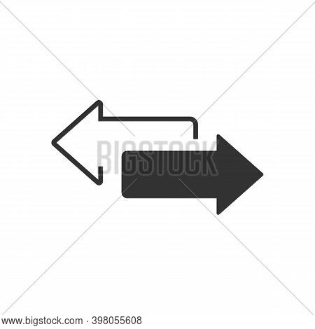 Two Sided Arrow Vector Icon Isolated On White Background