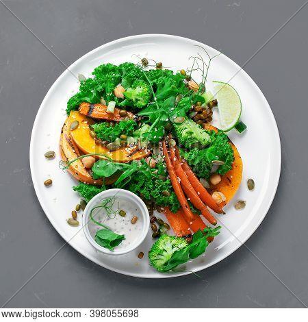 Grilled Pumpkin Salad With Vegetables