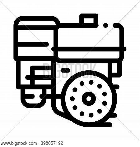 Engine Motor Kart Black Icon Vector. Engine Motor Kart Sign. Isolated Symbol Illustration