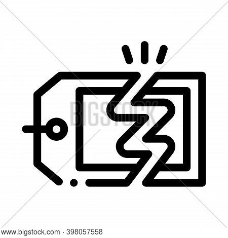 Discount Selling Price Black Icon Vector. Discount Selling Price Sign. Isolated Symbol Illustration