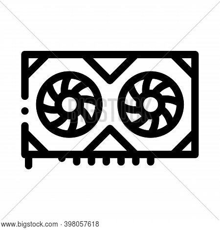 Video Adapter Black Icon Vector. Video Adapter Sign. Isolated Symbol Illustration