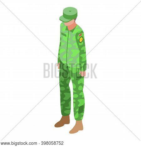 Military Uniform Captain Icon. Isometric Of Military Uniform Captain Vector Icon For Web Design Isol
