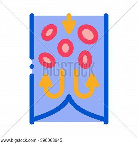 Blockage Of Blood Vessel Color Icon Vector. Blockage Of Blood Vessel Sign. Isolated Symbol Illustrat