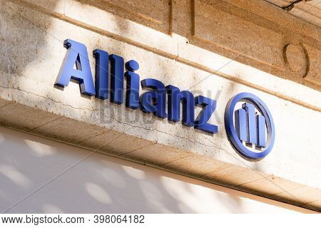 Bordeaux , Aquitaine  France - 12 01 2020 : Allianz Logo And Text Sign Front Of Office Building Of F