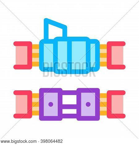 Connected Optical Fiber Color Icon Vector. Connected Optical Fiber Sign. Isolated Symbol Illustratio