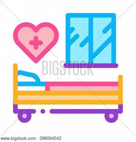 Prenatal Ward Maternity Hospital Color Icon Vector. Prenatal Ward Maternity Hospital Sign. Isolated