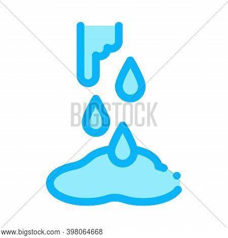 Water Broke Color Icon Vector. Water Broke Sign. Isolated Symbol Illustration